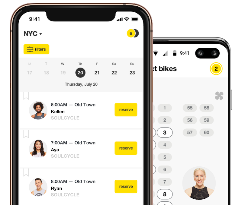SoulCycle iphone and android apps